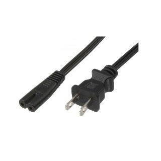 10er Pack Stromkabel 1,4 m - Steckertyp NEMA-1 auf Kaltgerätestecker C7