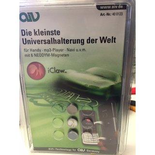 AIV iClaw - 10er Pack Super kleine Magnet Universalhalterung  400123