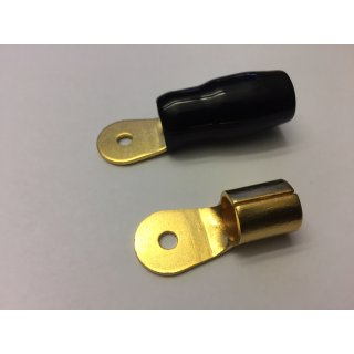 AIV Ringkabelschuh 300 Stück, schwarz M4 bis 35mm² mit Schrumpfschlauch