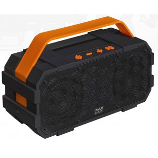 Mac Audio BT Wild 801 Schwarz-Orange Vollaktiver Bluetooth-Lautsprecher Akku UVP 79,99