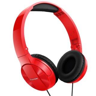 PIONEER SE-MJ503-R Rot Faltbarer On-Ear Kopfhörer aus Pure Sound Serie  N