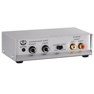 B-Tech BT26 Silver v.2 - MM Phono Vorverstärker inkl. Netzteil
