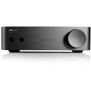 NAD AMP1  HighEnd Stereo-Verstärker mit Streaming, schwarz