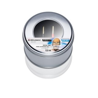 Oehlbach Crystal Wire T25, 10,0m - 2x2,5 mm Lautsprecherkabel mit Tube-Verbinder