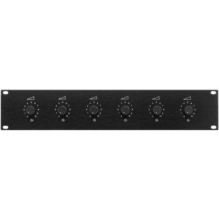 Monacor ATT-19100 - 6-fach-ELA-Lautstärkesteller