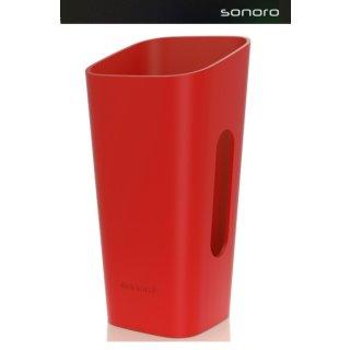 Sonoro cuboGo / GoLondon / GoNewYork / GoBerlin Hülle Rot -  Wechselhülle für cubo Go, Go London, Go NewYork, Go Berlin, UVP ¤ 24,90