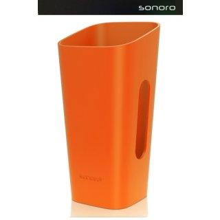 Sonoro cuboGo / GoLondon / GoNewYork / GoBerlin Hülle Orange -  Wechselhülle für cubo Go, Go London, Go NewYork, Go Berlin, UVP ¤ 24,90