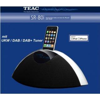 TEAC SR-80iDAB Schwarz - Design-Radio für Ihr iPhone® mit UKW/DAB/DAB+ Tuner, N1