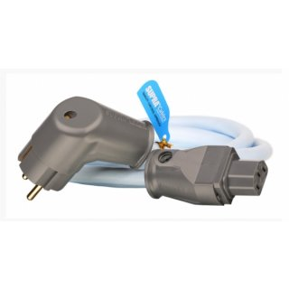 Supra Cables LoRad 3 x 1,5 MK II CS-EU/A, 4,0 m - geschirmtes Netzkabel mit Geräteranschluss-Stecker SW-10 und abgewinkeltem Netzstecker SW-EU/A