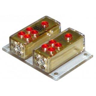 AIV 650333  Verteiler - Doppel-Verteilerblock je 1 x  Kabel 25 qmm, je 4 x Kabel 10 qmm