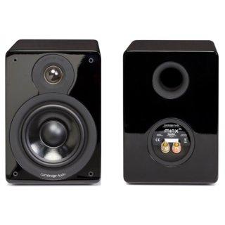 Cambridge Audio Minx XL, Schwarz Hochglanz - PAAR  Regallautsprecher UVP 299 €