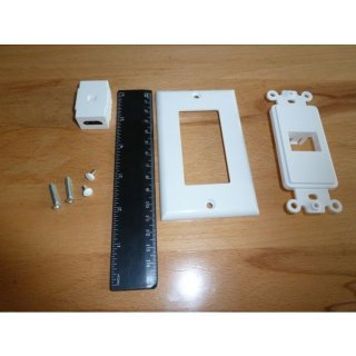 AIV HDMI-Dose Steckdose 1-Port gerade Set 8 Stück HDMI-Steckdose