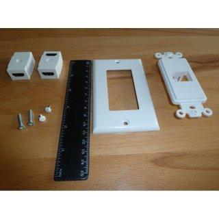 AIV HDMI-Dose Steckdose 1-Port abgewinkelt Set 6 Stück HDMI für Wandmontage