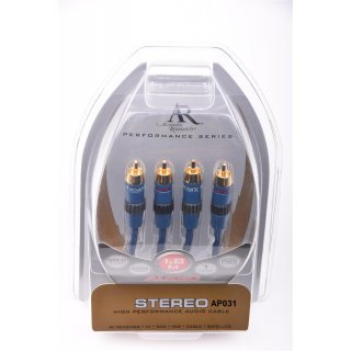 Acoustic Research AP031 1,8 m NEU Performance Stereo Audio Kabel UVP 19,99