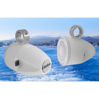 Clarion WTE7W LAUTSPRECHERGEHÄUSE für Marine-Lautsprecher Glasfaserkonstruktion